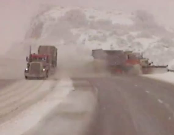 Dashcam video shows plow getting run off road