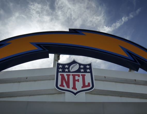 Fan threw eggs at Chargers' HQ after news of move