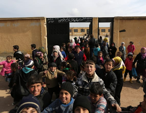 Children return to school at former ISIS prison