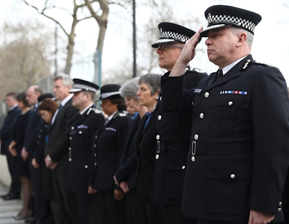 Tributes pour in for slain London cop