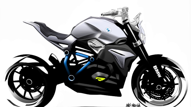 bmw concept roadster motorcycle sketches photo gallery. Black Bedroom Furniture Sets. Home Design Ideas