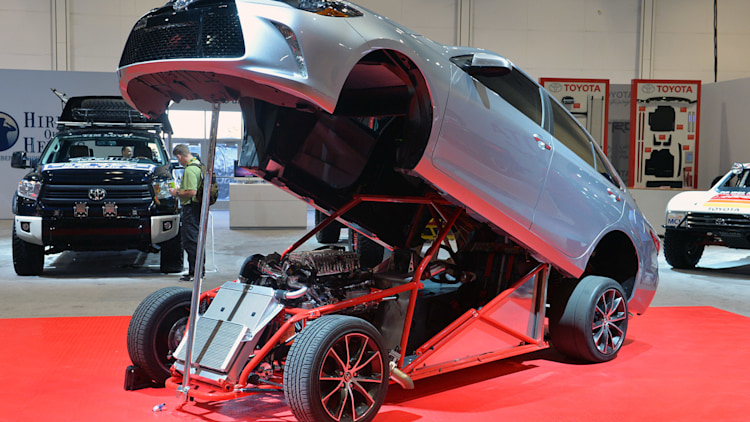 toyota camry dragster sema 2014 photo gallery autoblog. Black Bedroom Furniture Sets. Home Design Ideas
