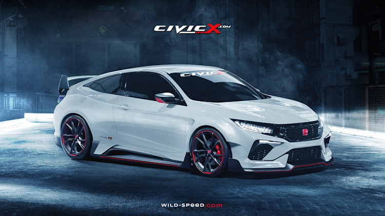 honda civic type r coupe renderings photo gallery autoblog. Black Bedroom Furniture Sets. Home Design Ideas