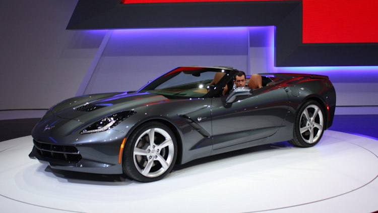 first production 2014 corvette stingray convertible auctioned for a cool million. Black Bedroom Furniture Sets. Home Design Ideas