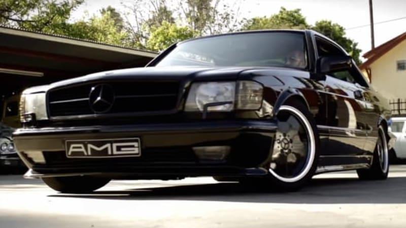1988 mercedes benz 560 sec amg is period gangsta autoblog. Black Bedroom Furniture Sets. Home Design Ideas