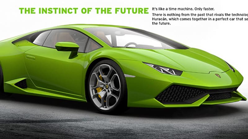 Lamborghini configurator