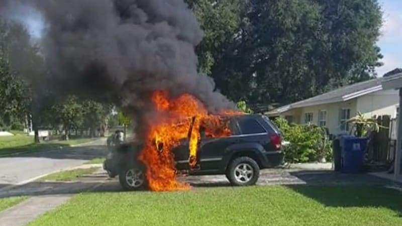 Jeep burned down by new Samsung Galaxy Note 7