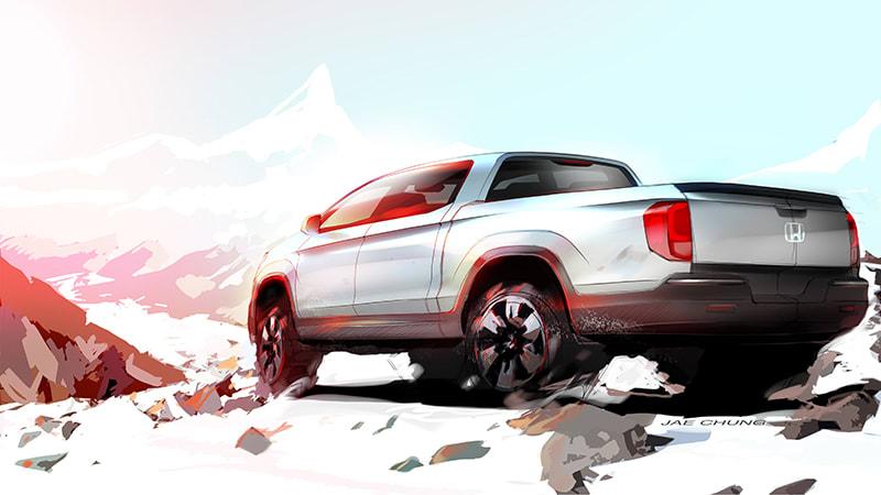 Next Honda Ridgeline previewed in sketch
