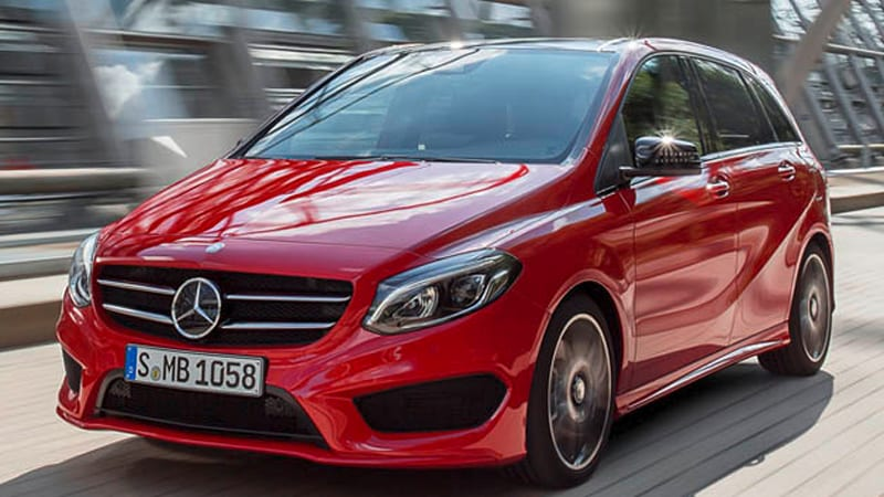 mercedes gives b class a facelift in time for paris autoblog. Black Bedroom Furniture Sets. Home Design Ideas