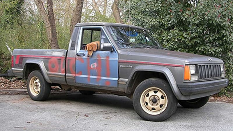 beater of the day 1988 jeep comanche autoblog. Black Bedroom Furniture Sets. Home Design Ideas