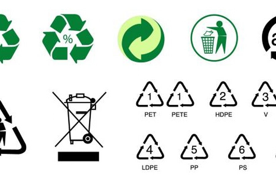 Marca Del Mapa Símbolo De Ios 7: ¿Conoces Todos Los Símbolos Del Reciclaje?