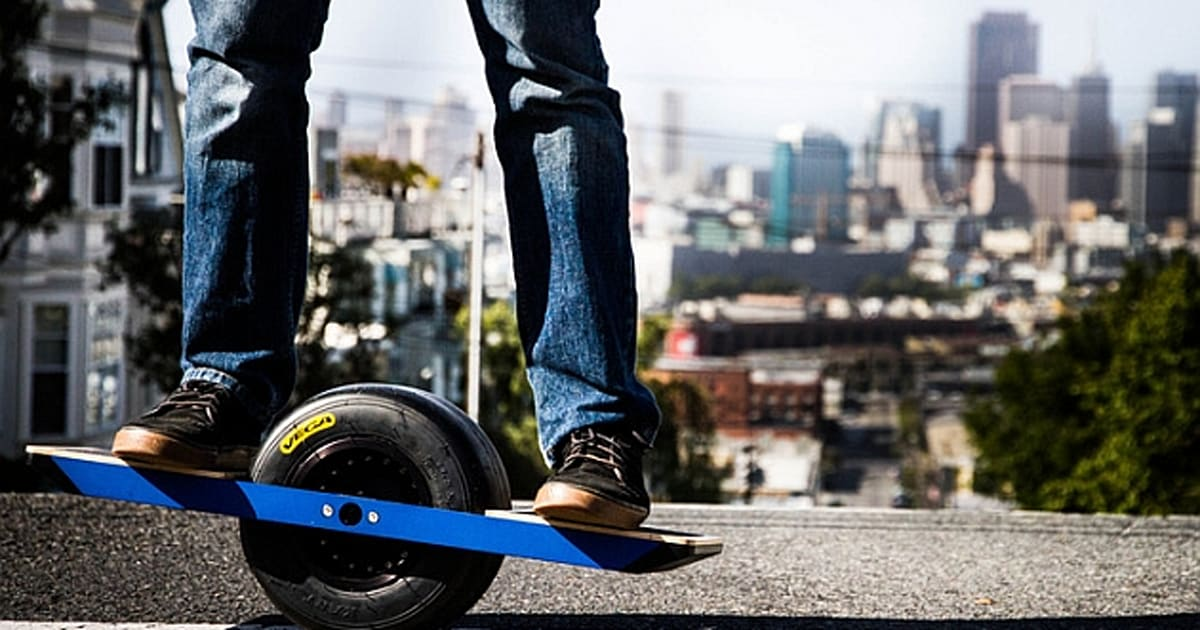 onewheel is a self balancing single wheeled electric skateboard video. Black Bedroom Furniture Sets. Home Design Ideas