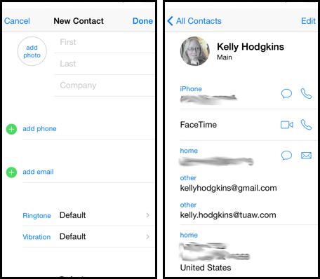 add contacts to iphone iphone 101 use safari autofill to enter information into 3122