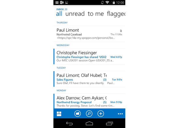 outlook web app android - Outlook Web App for Android will help your smartphone fit in at work