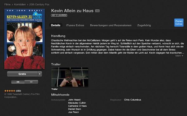 Download des Tages Kevin Allein zu Haus umsonst auf