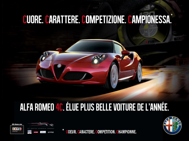 campagne d 39 envergure pour l 39 alfa romeo 4c autoblog fr. Black Bedroom Furniture Sets. Home Design Ideas