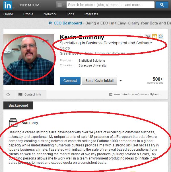 Recruiter profile summary dating 4