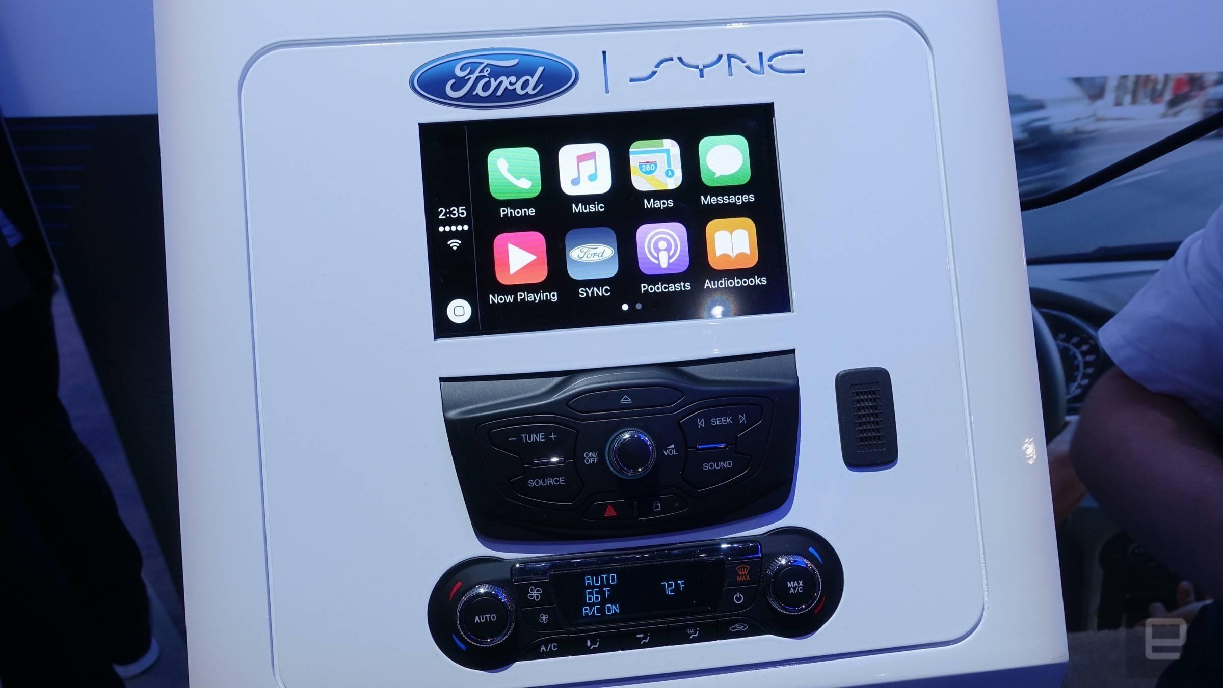 ford sync 3 funciona de maravilla con android auto y car play engadget en espa ol. Black Bedroom Furniture Sets. Home Design Ideas