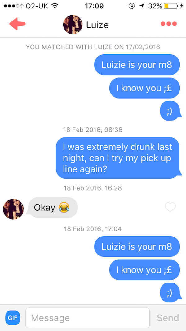 Way Too Drunk To Be On Tinder