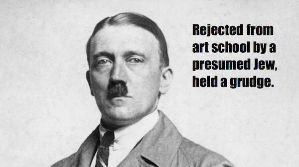 one-line summaries famous historical figures, adolf hitler