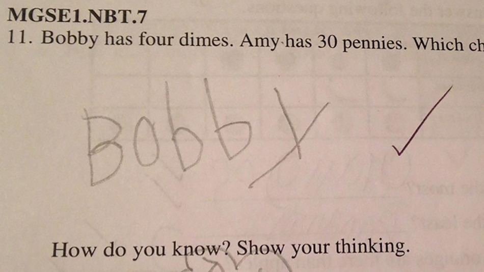 6-year-old provides the most genius answer to his math ...