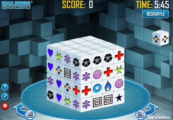 Bildspielt Mahjong Dimensions
