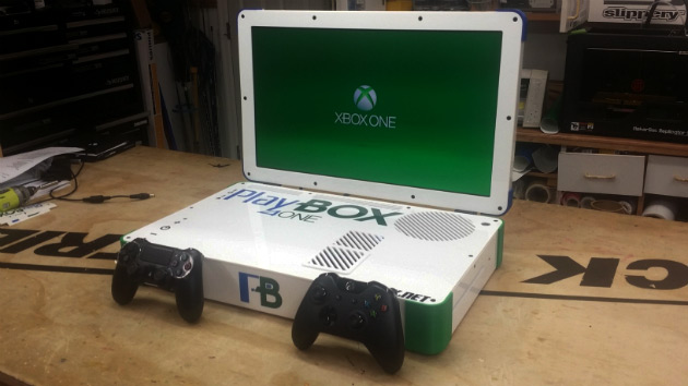 This portable laptop mod houses both a PS4 and Xbox One