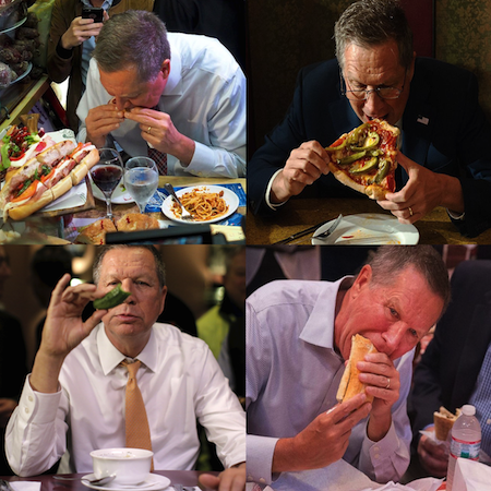embarrassing moments for 2016 presidential candidates, john kasich eats