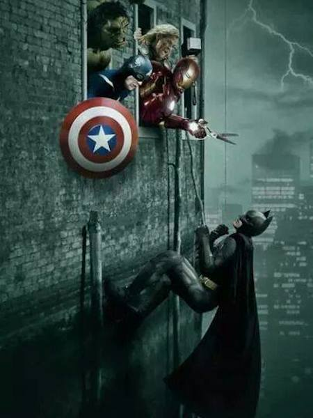 superheroes being aholes, avengers v batman