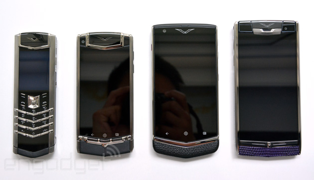 Vertu Signature, Ti, Constellation and Signature Touch.