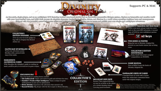 Divinity Original Sin Collector's Edition Announced and Steam Early Access