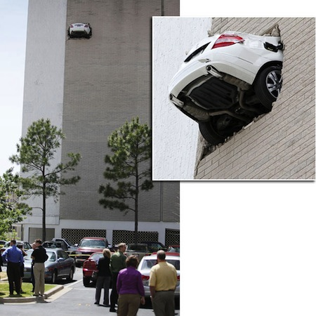 things you don't see every day, mercedes crash wall