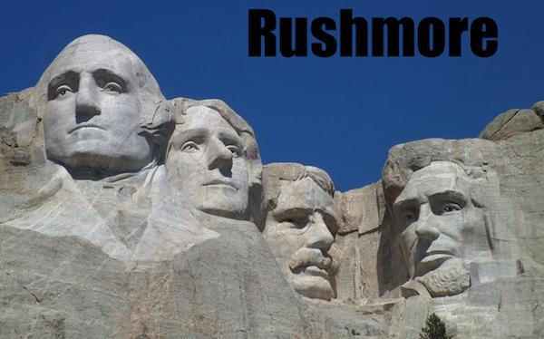 50 words for 50 states, south dakota rushmore