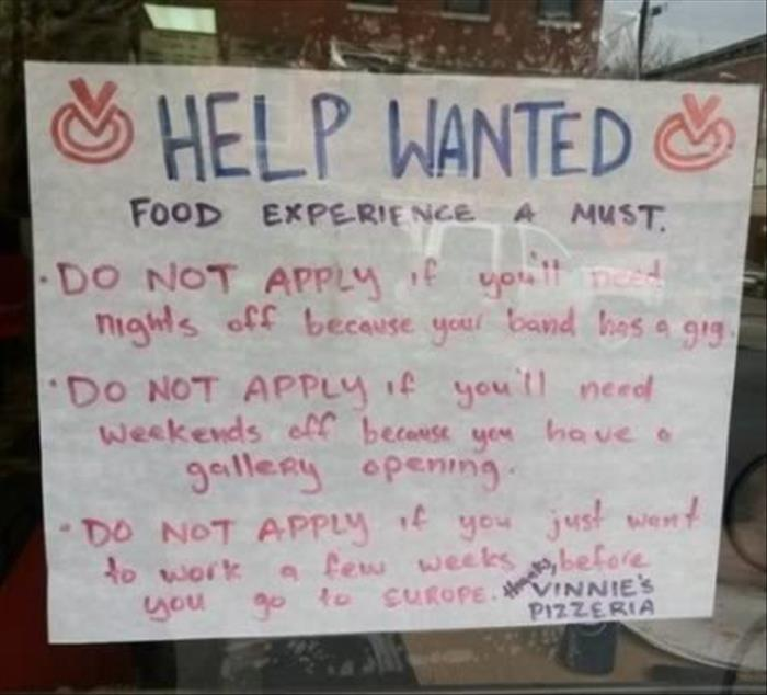 Funny, Funny Photos, Help Wanted Signs