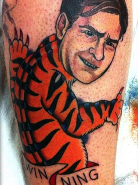 worst tattoos of celebrities, charlie sheen