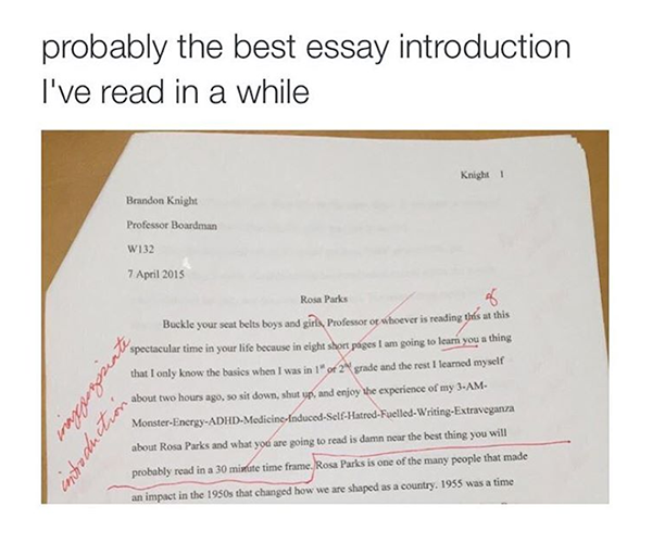 Funny creative writing essay