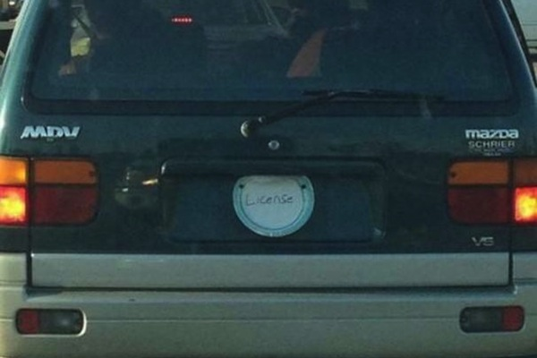 ironic license plates, funny license plates, license plate
