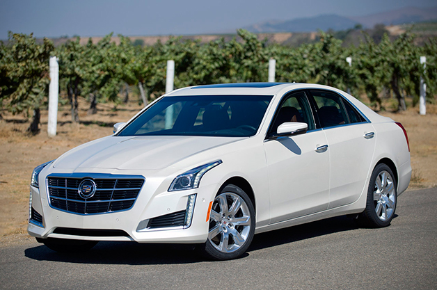 2014 Cadillac CTS, front three-quarter view