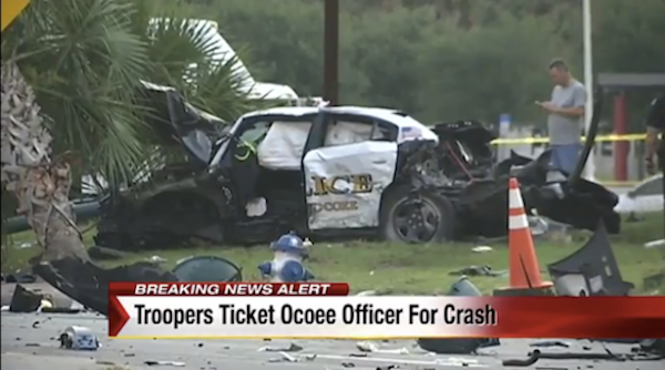 wicked awesome police crash in Ocoee