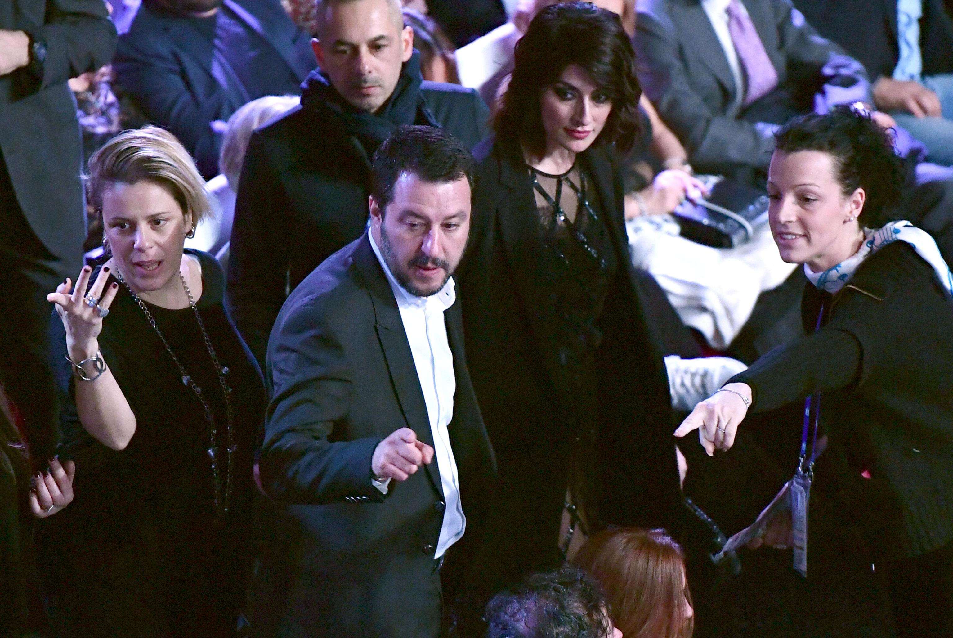 ... Northern League (Lega Nord) party leader Matteo Salvini and his partner  Elisa Isoardi at ... f31a2518ffa