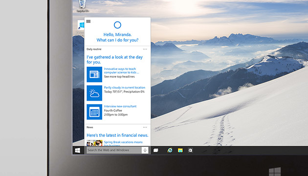 Microsoft's Cortana virtual assistant is coming to the PC ...
