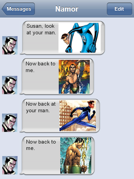 superheroes being aholes, namor v mr fantastic