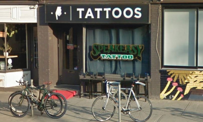 Lizzie Renaud's tattoo parlour on Harbord Street in