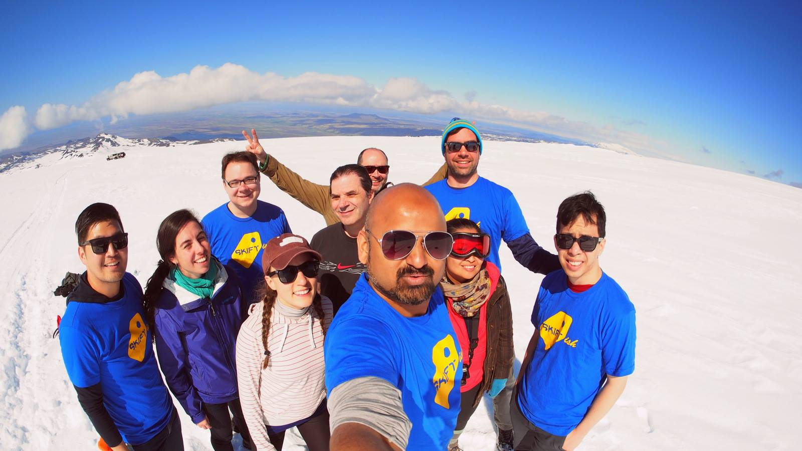 The Skift team -- now the Gadling team, too -- in Iceland this May.