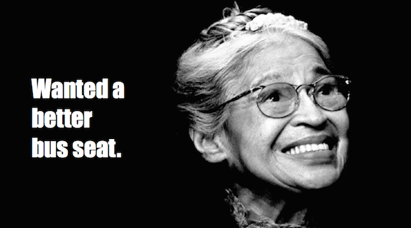 one-line summaries famous historical figures, rosa parks
