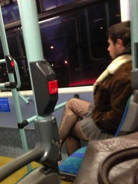 something ain't right photos, hidden funny photos, man on train fishnets