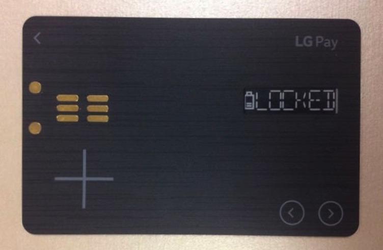 LG Pay White Card