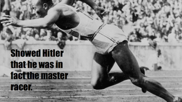 one-line summaries famous historical figures, jesse owens