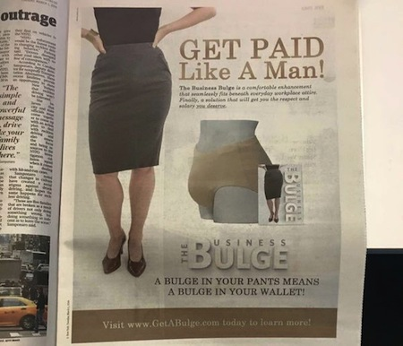 things you don't see every day, women's bulge newspaper ad