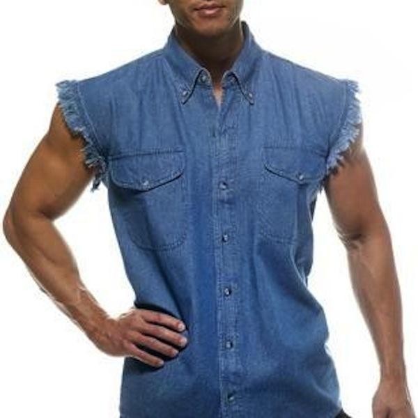 douchiest shirts ever created, douchey shirts, cutoff jean shirt